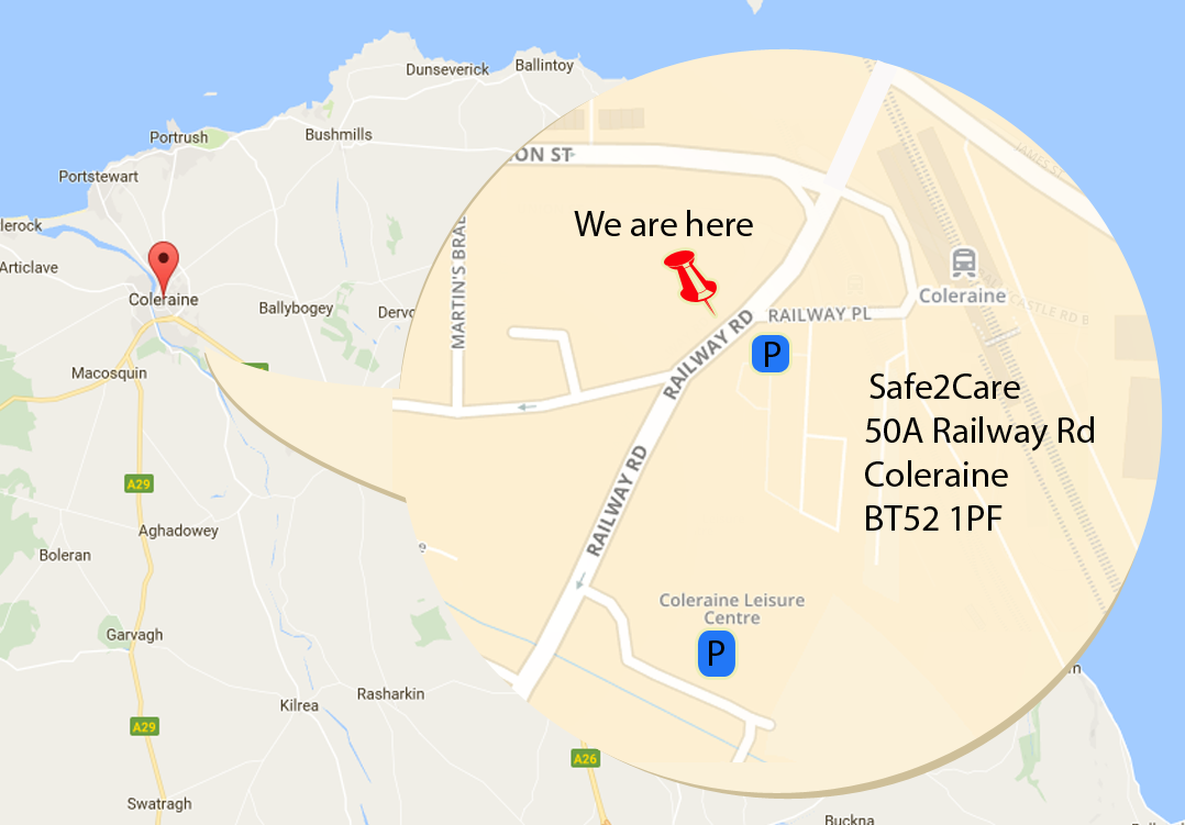 Location Map Coleraine Safe2care